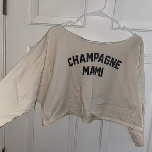 Champagne Mami Oversized Crop Top